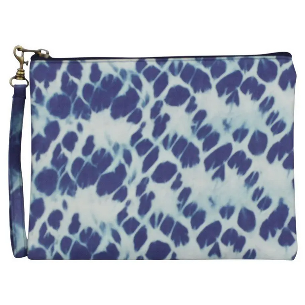 Large Silk Wristlet - Tie Dye Prints