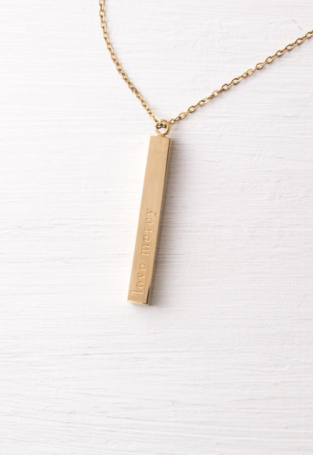 Give Justice Gold Bar Necklace