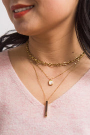 Give Joy Gold Bar Necklace