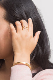 Jeanette Gold Crown Ring