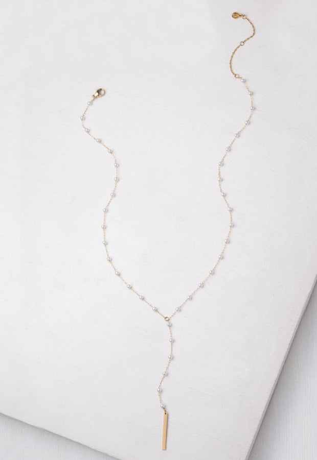 Erica Gold Pearl Necklace