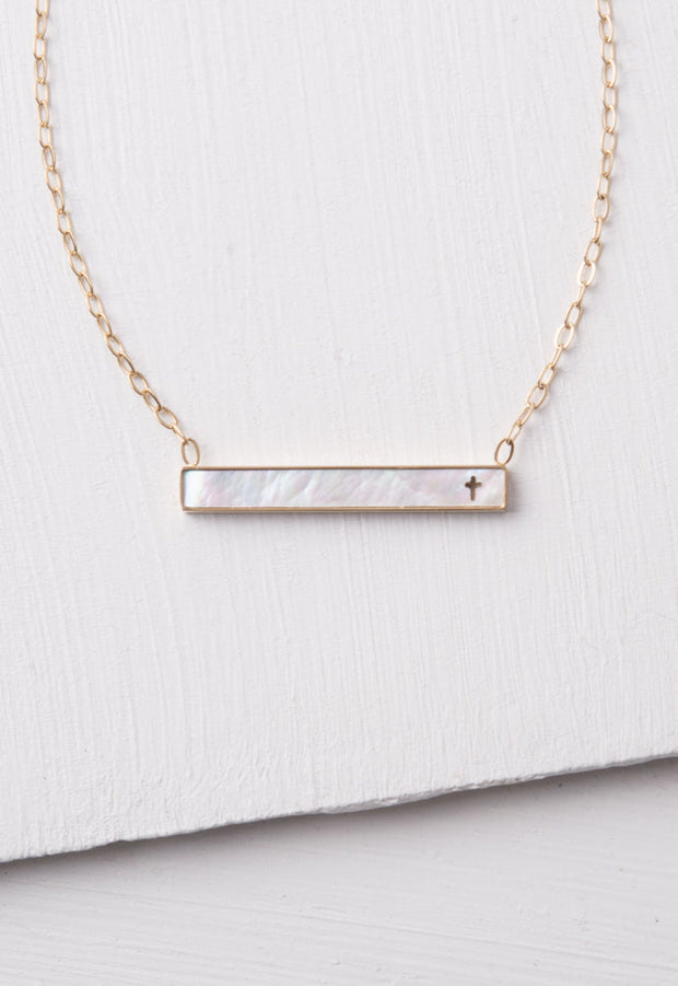 Lenore Cross Bar Necklace