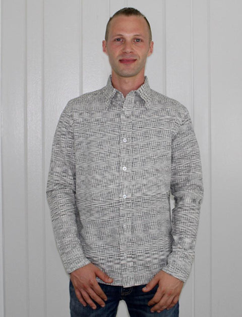 Timeless Grey Men's Button Down Shirt