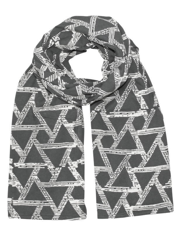Triangles Organic Jersey Scarf
