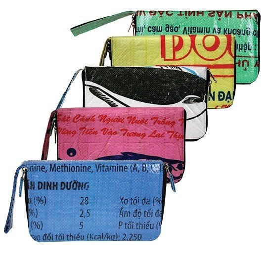 Recycled Feed Bag Travel Wallet