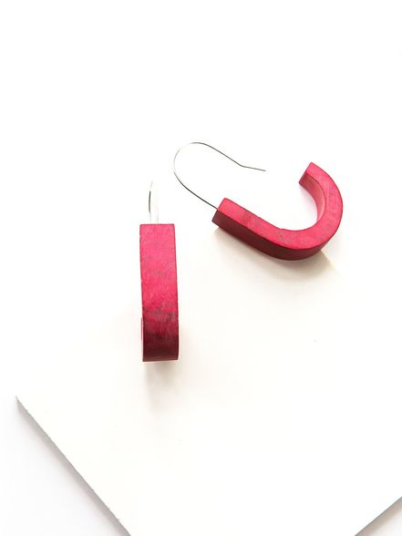 Clay Hoops - Red Marble