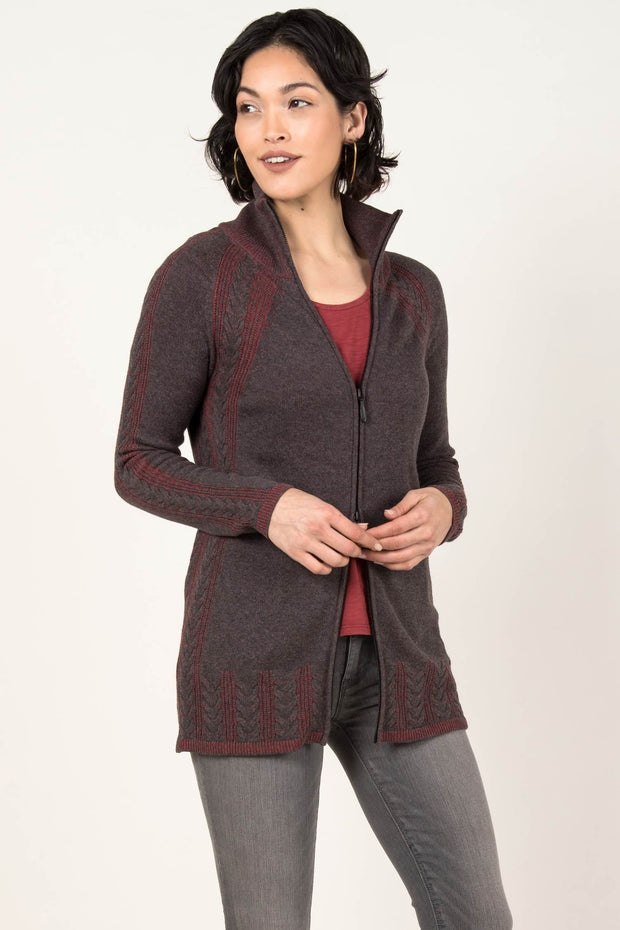 Cable Zip Cardigan