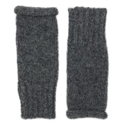 Charcoal Essential Knit Alpaca Gloves