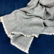 Charcoal Diamond Cashmere Throw