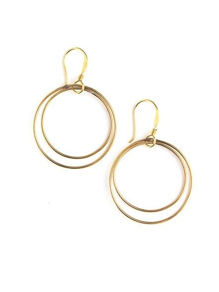 Double Moon Earrings - Gold
