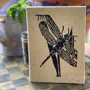 Dragonfly Block Print Journal