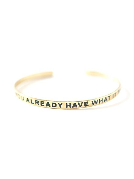 Have What It Takes Cuff - Brass