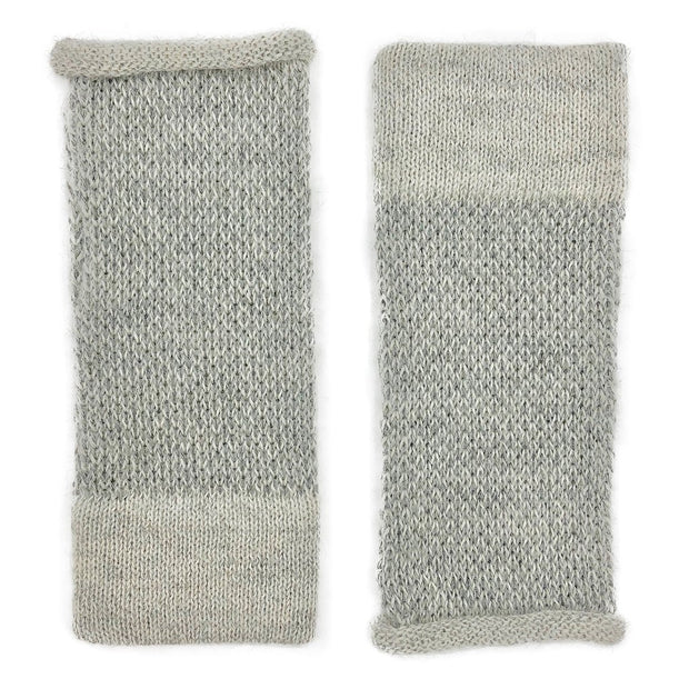 Gray Interwoven Alpaca Gloves