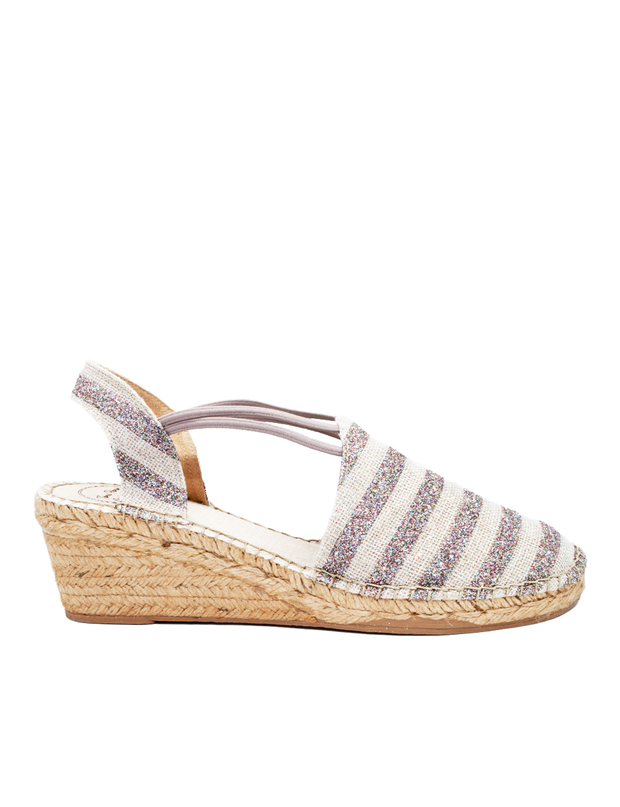 Espadrilles Wedge Shimmer Stripes