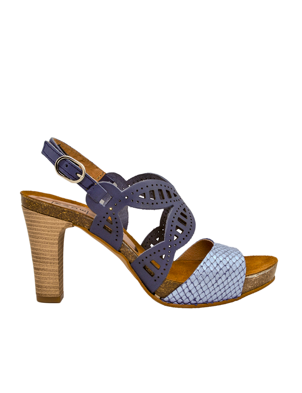 Metallic Blue Butterfly Sandal