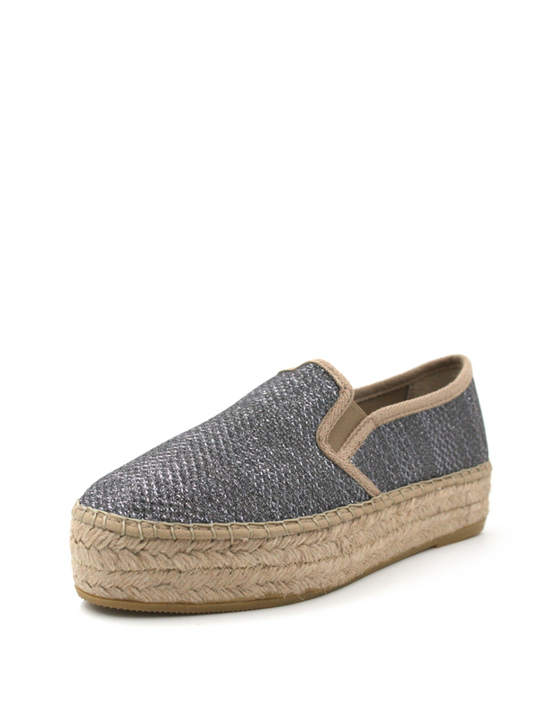 Espadrilles Flat Wedge Metallic