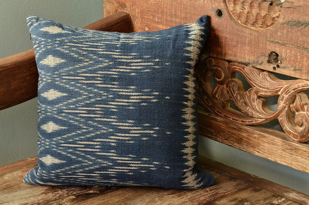 Indigo Ikat Pillow Cover
