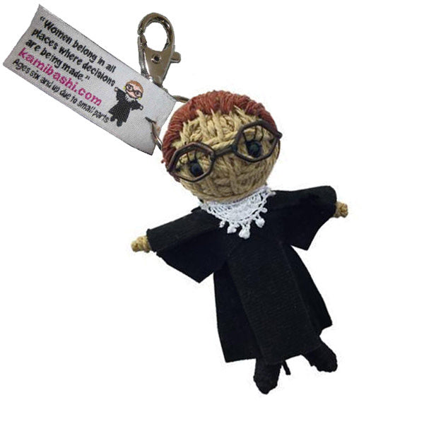 Justice Ruth String Doll Keychain