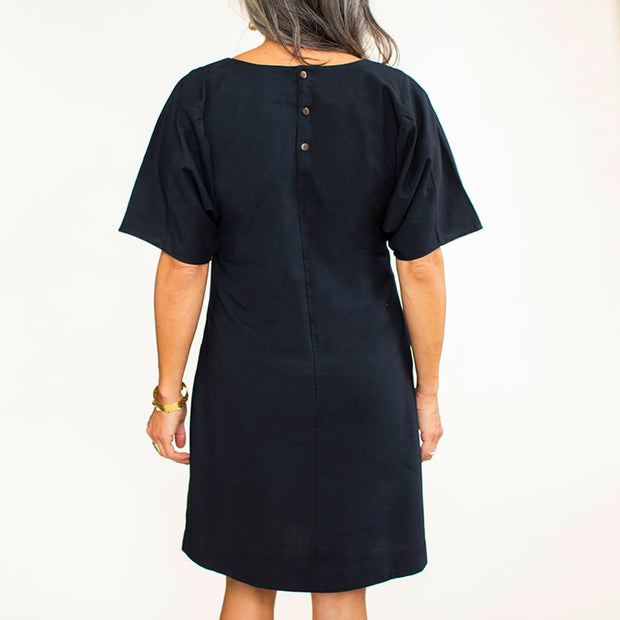 The Butterfly Sleeve Dress - Black