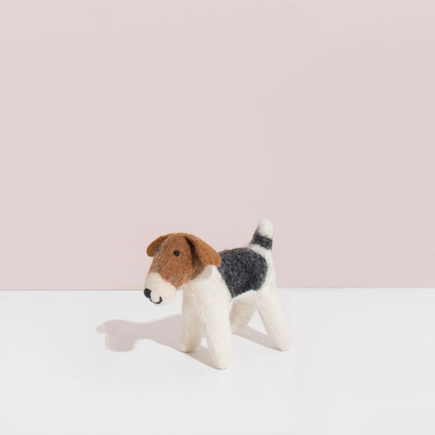 Hand Felted Small Terrier Dog