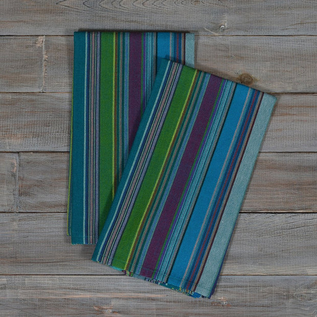 Striped Kitchen Towels | Quetzal Jade