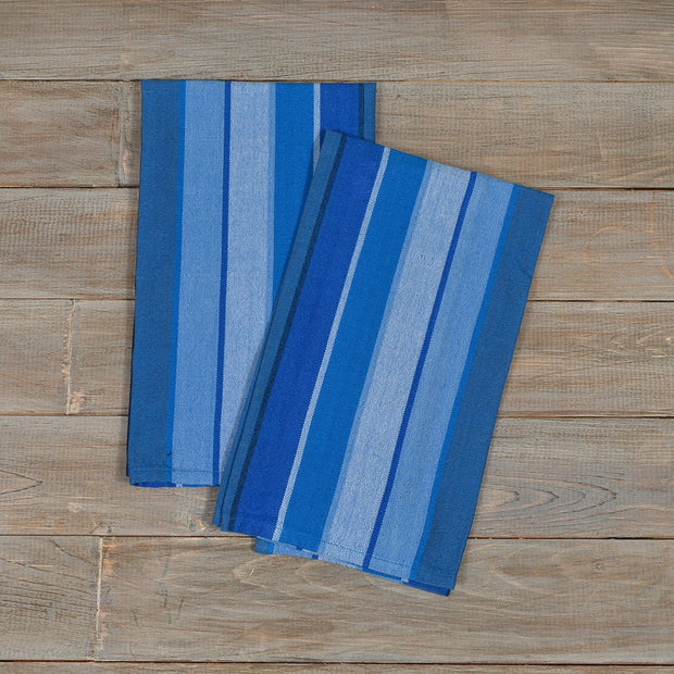 Striped Kitchen Towels | Stormy Blues