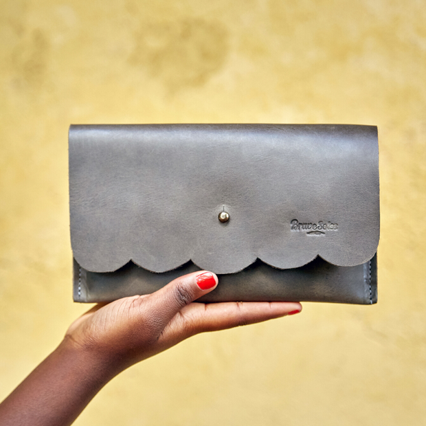 The Paola Leather Clutch
