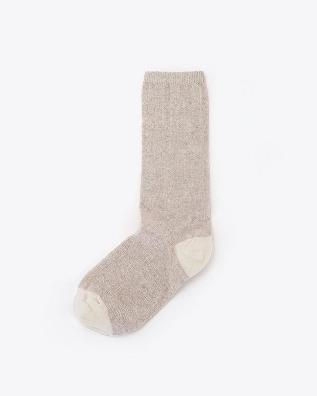 Cotton Crew Sock Tan/Natural
