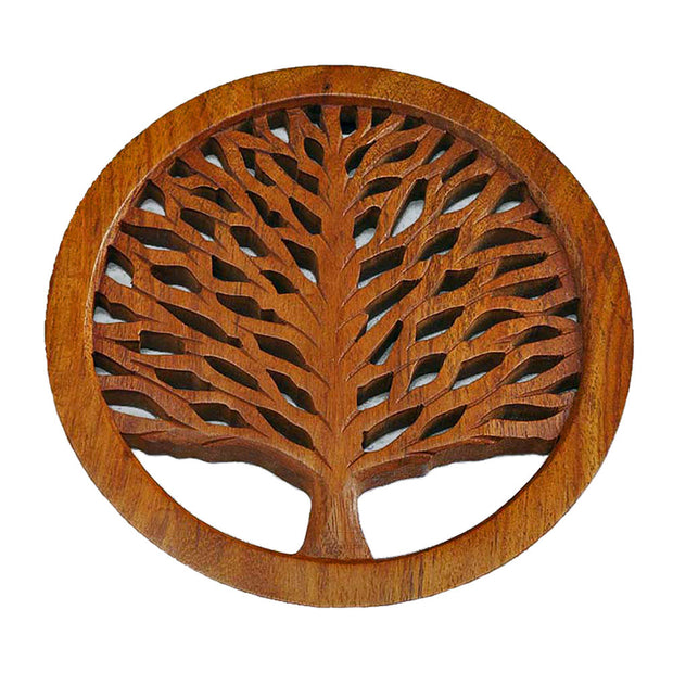 Tree of Life Wooden Trivet