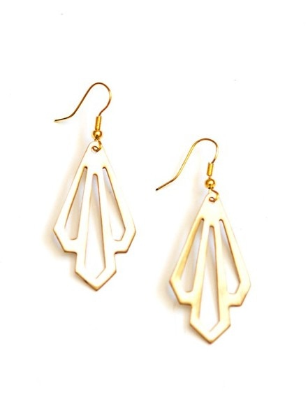Illuminate Earrings - Brass