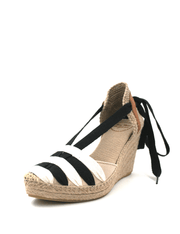 Espadrilles Wedge Night Snow Ribbon