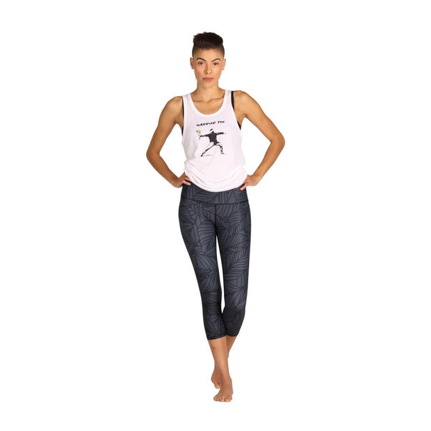 Urban Camo Yoga Crop - Slate