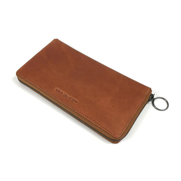 ZIP WALLET CAMEL