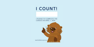 Pledge to be Counted in the 2020 Census With Potter the Otter