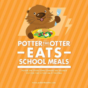 Potter the Otter Eats School Meals (Available in Santa Clara and San Mateo County)