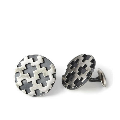 Charlie Sterling Silver Cuff Links