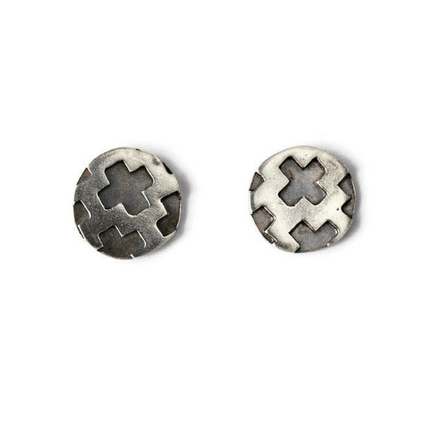 Charlotte Sterling Silver Stud Earrings