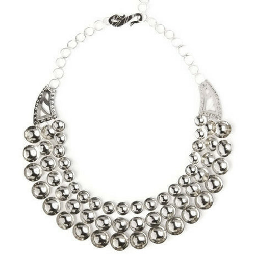 Hildi Sterling Silver Three-Strand Necklace