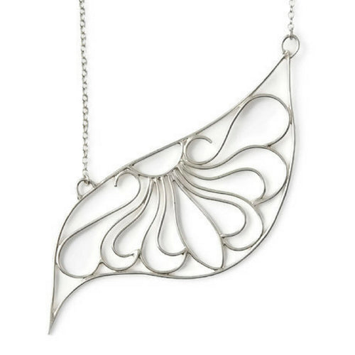 South William Sterling Silver Filigree Asymmetrical Necklace