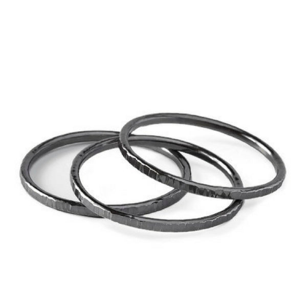 Susanna Sterling Silver Oxidized Bangle Bracelets