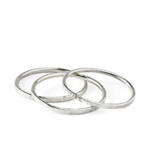 Susanna Sterling Silver Polished Bangle Bracelets