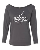 Womens French Terry 3/4 Sleeve Raglan