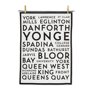 Toronto Street Names Tea Towel