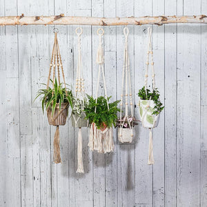 Macrame Planter Hanger with Beads