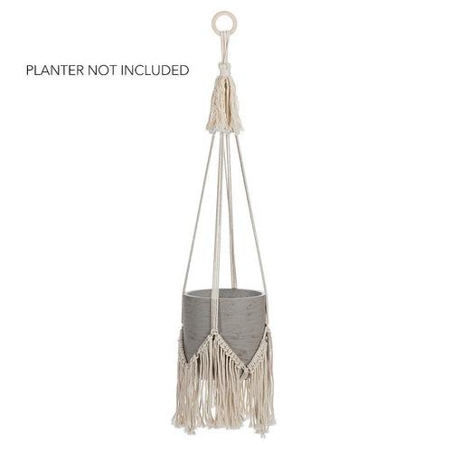 Macrame Planter Hanger with Fringe