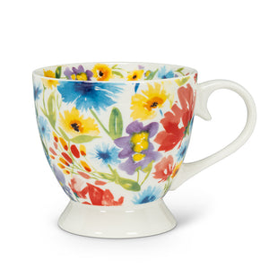 Allover Flower Footed Cup