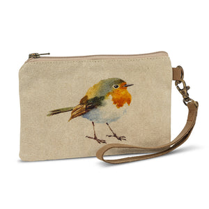 Cotton Wildlife Clutch | English Robin