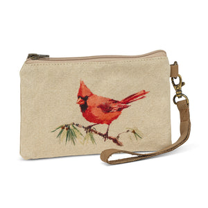 Cotton Wildlife Clutch | Cardinal