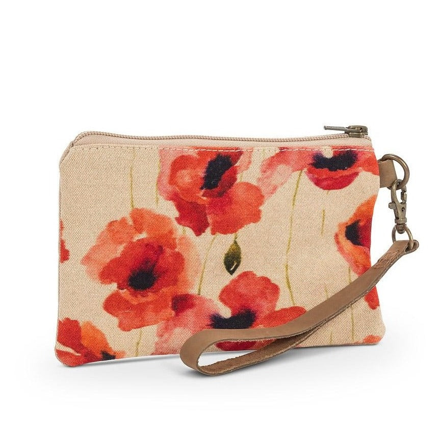 Cotton Wildlife Clutch | Poppy Print