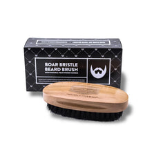 Boar Bristle Beard Brush with Black Box + Pear Wood Handle
